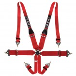trs hans harness red 6 point