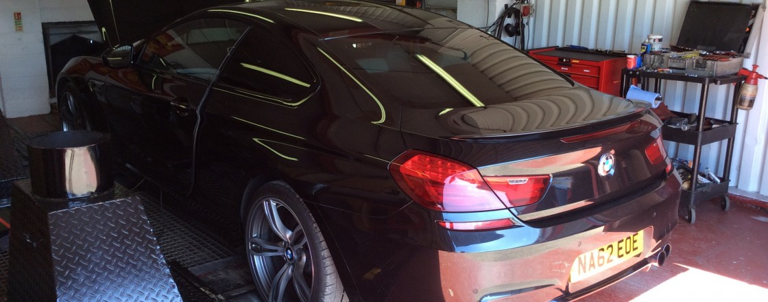 BMW m6 rolling road