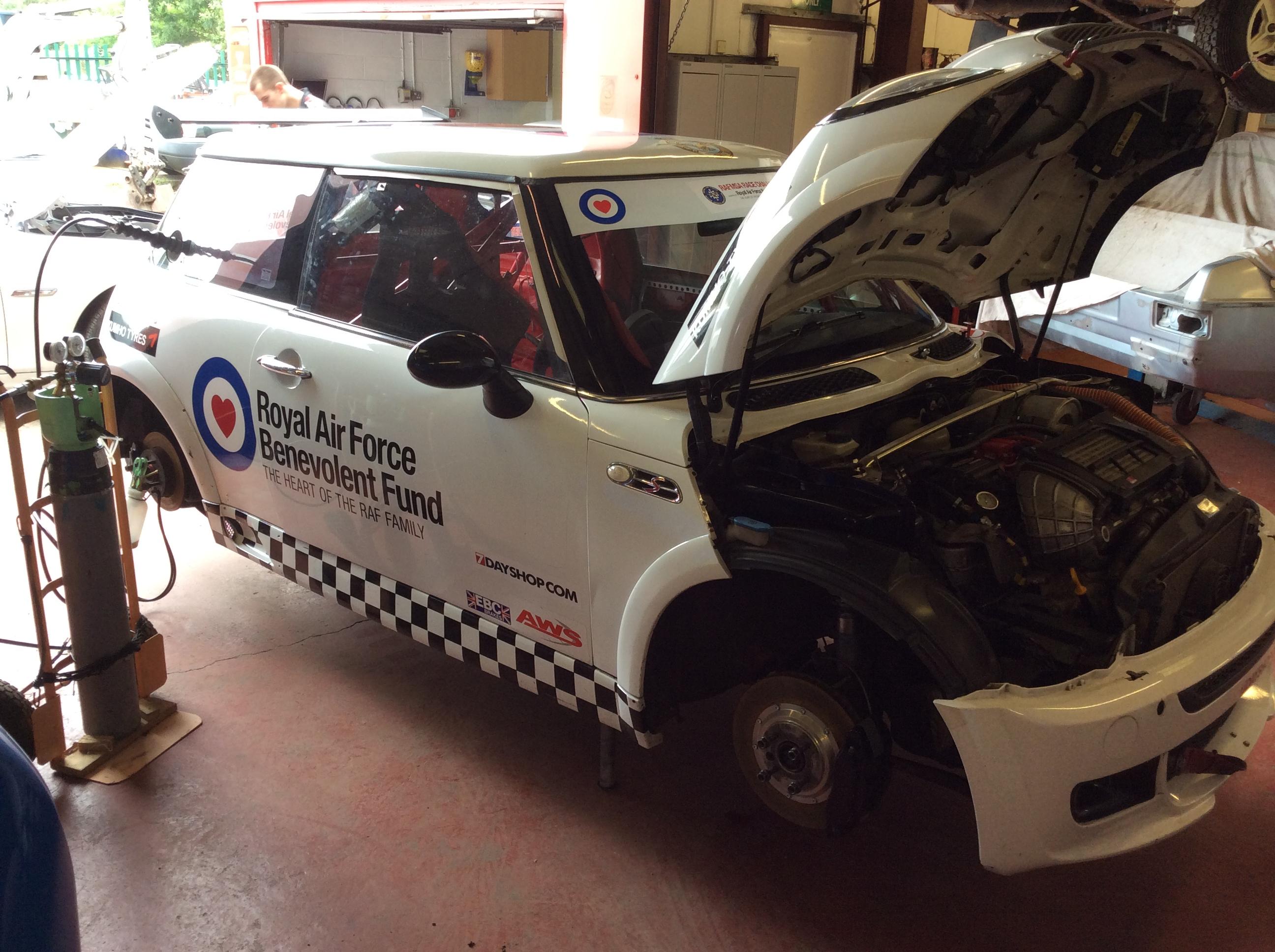 BMW Mini Race Car Preparation