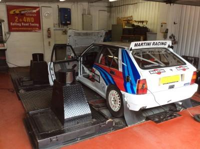 Lancia Integrale Rally Car Rolling Road