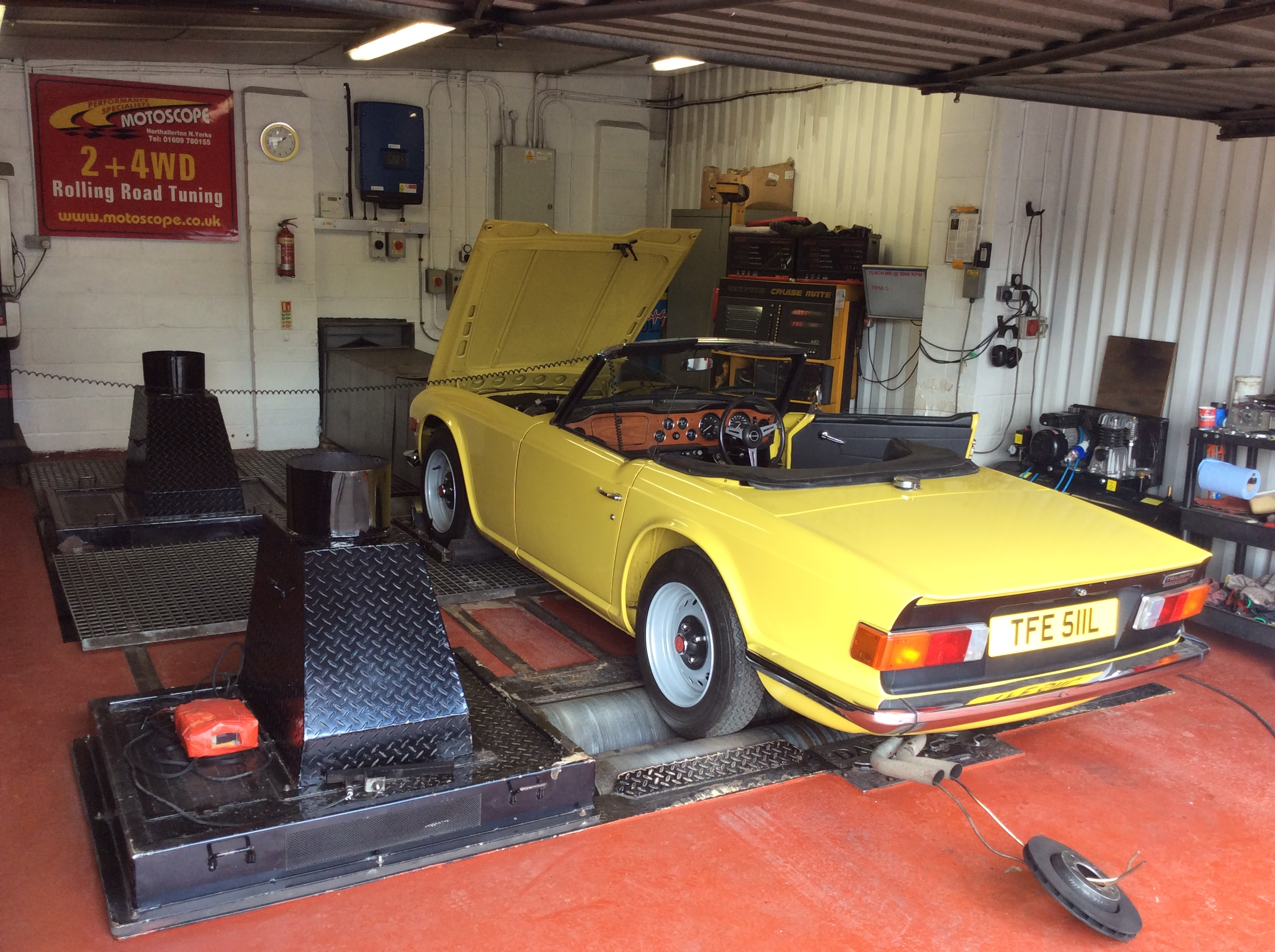 TR6 Rolling Road