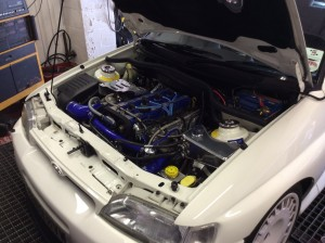 Escort cossie engine bay